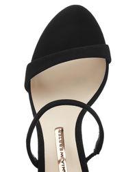 Sophia Webster - Black Rosalind Crystal-embellished Suede Sandals - Lyst