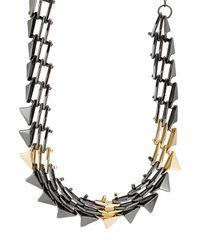 Alexis Bittar - Metallic Mixed Metal Spike Necklace - Lyst