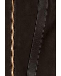 Michael Kors - Black Suede Jacket - Lyst