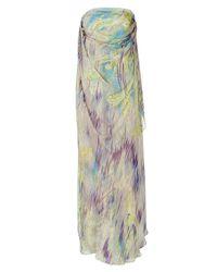 Matthew Williamson | Multicolor Mauve And Peridot Printed Silk Gown | Lyst
