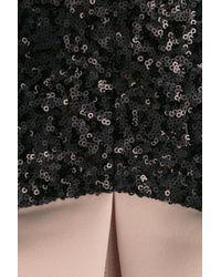 Halston Black Dress With Sequins