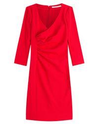 Diane von Furstenberg - Tailored Dress With Gathered Waist - Lyst