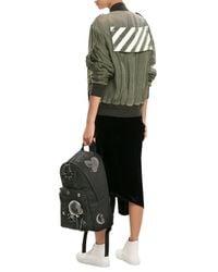 Off-White c/o Virgil Abloh - Green Zipped Cupro Jacket - Lyst