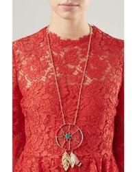 Aurelie Bidermann | Metallic Dreamcatcher Gold-plated Pendant Necklace | Lyst