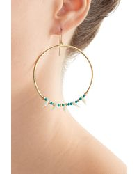 Aurelie Bidermann | Metallic Kreolen Squaw Turquoise-pearl Earrings | Lyst