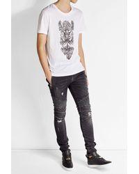 Balmain - Multicolor Printed Cotton T-shirt for Men - Lyst