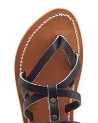 K. Jacques - Black Appiap Leather Sandals - Lyst