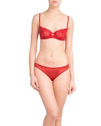 La Perla - Red Lace Briefs - Lyst