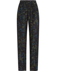 KENZO - Multicolor Printed Silk Pants - Lyst