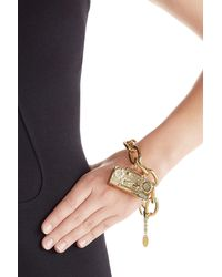 Moschino | Metallic Gold-tone Brass Bracelet | Lyst