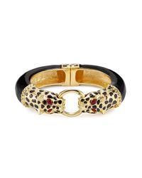 Kenneth Jay Lane - Metallic Gold-plated Resin Leopard Bracelet - Lyst