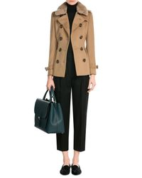 Burberry | Green Leather Tote | Lyst
