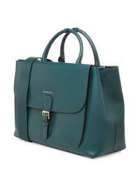 Burberry - Green Leather Tote - Lyst