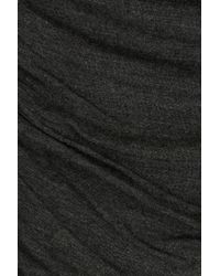 Bailey 44 - Black Draped Jersey Top With Bardot Shoulders - Lyst