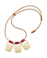 Marni | Red Triple Pendant Necklace | Lyst