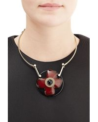 Marni | Metallic Flower Pendant Necklace | Lyst