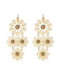 Gas Bijoux - Metallic Neige Small Gold Plated Earrings With Swarovski Crystals - Lyst