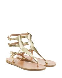 Ancient Greek Sandals - Themis Metallic Leather Sandals - Lyst