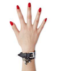 Alexander McQueen | Embellished Leather Spider Charm Wrap Bracelet - Black | Lyst