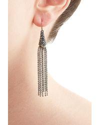 Alexis Bittar - Gray Tassel Chain Earrings - Silver - Lyst