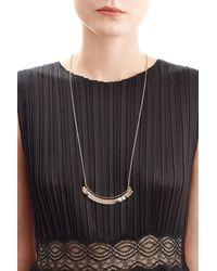 Alexis Bittar | Metallic Colorblocked Crescent Bib Necklace | Lyst