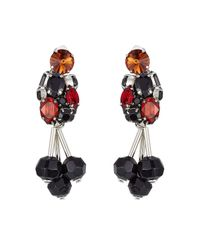 Marni | Red Embellished Earrings | Lyst