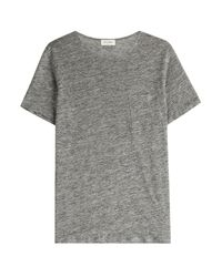 American Vintage - Gray Linen T-shirt for Men - Lyst