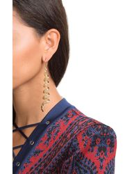 Alberta Ferretti | Metallic Embellished Earrings | Lyst