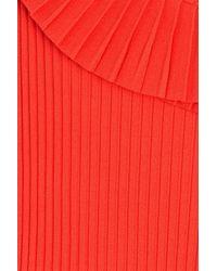 Emilio Pucci - Red Asymmetric Mini Dress With Pleats - Lyst