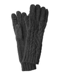 Polo Ralph Lauren | Black Gloves With Wool And Alpaca | Lyst