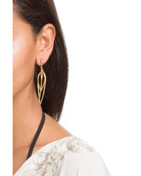 Kenneth Jay Lane | Metallic Hammered Metal Layered Teardrop Earrings | Lyst