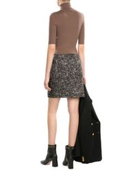Theory Brown Merino Wool Turtleneck With Short Sleeves
