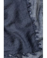 Faliero Sarti | Blue Cashmere Scarf With Silk for Men | Lyst