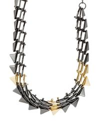 Alexis Bittar | Metallic Mixed Metal Spike Necklace | Lyst