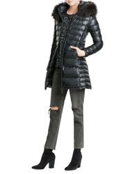 Duvetica | Black Quilted Down Jacket With Fur Trim | Lyst