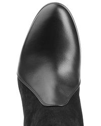 Chloé - Black Chloé Suede And Leather Over The Knee Boots - Grey - Lyst
