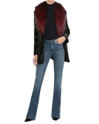 Diane von Furstenberg | Multicolor Goat Fur Coat With Fox Fur Collar | Lyst