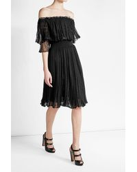 Alexander McQueen | Black Dress With Silk And Cotton | Lyst
