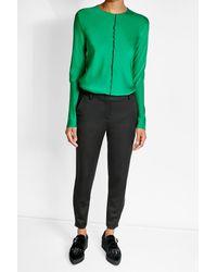 DKNY | Green Silk Crepe Top | Lyst