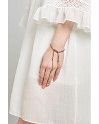 Carolina Bucci | Metallic 18 Carat Rose Gold And Silk Woven Tassel Bracelet | Lyst