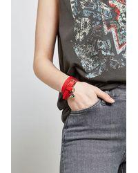 Alexander McQueen | Red Leather Wrap Bracelet | Lyst