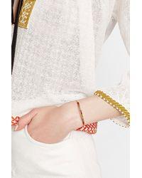 Gas Bijoux | Metallic 24kt Gold Plated Zanzibar Bangle Bracelet | Lyst