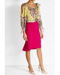 Roberto Cavalli | Multicolor Printed Cotton Blouse | Lyst
