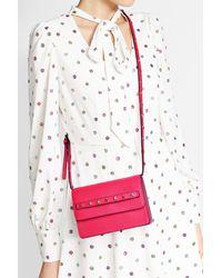 RED Valentino | Pink Studded Leather Shoulder Bag | Lyst