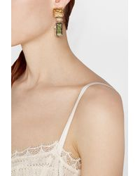 Alexis Bittar - Natural Geometric Lucite Earrings With Crystals - Lyst