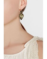 Alexis Bittar | Metallic Gold-plated Earrings With Lucite | Lyst