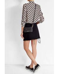 Karl Lagerfeld - Black K Klassik Super Mini Leather Shoulder Bag - Lyst