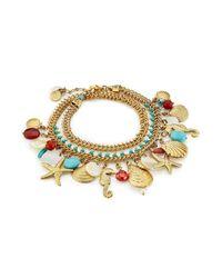 Gas Bijoux | Metallic Searene 24k Gold-plated Charm Bracelet | Lyst
