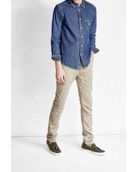 KENZO   Blue Denim Shirt for Men   Lyst