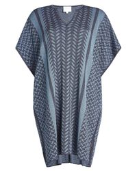 Lala Berlin - Blue Caftan With Metallic Thread - Lyst